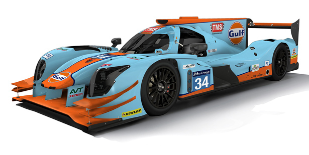 Photo of Tockwith Motorsports com as cores da Gulf para Le Mans
