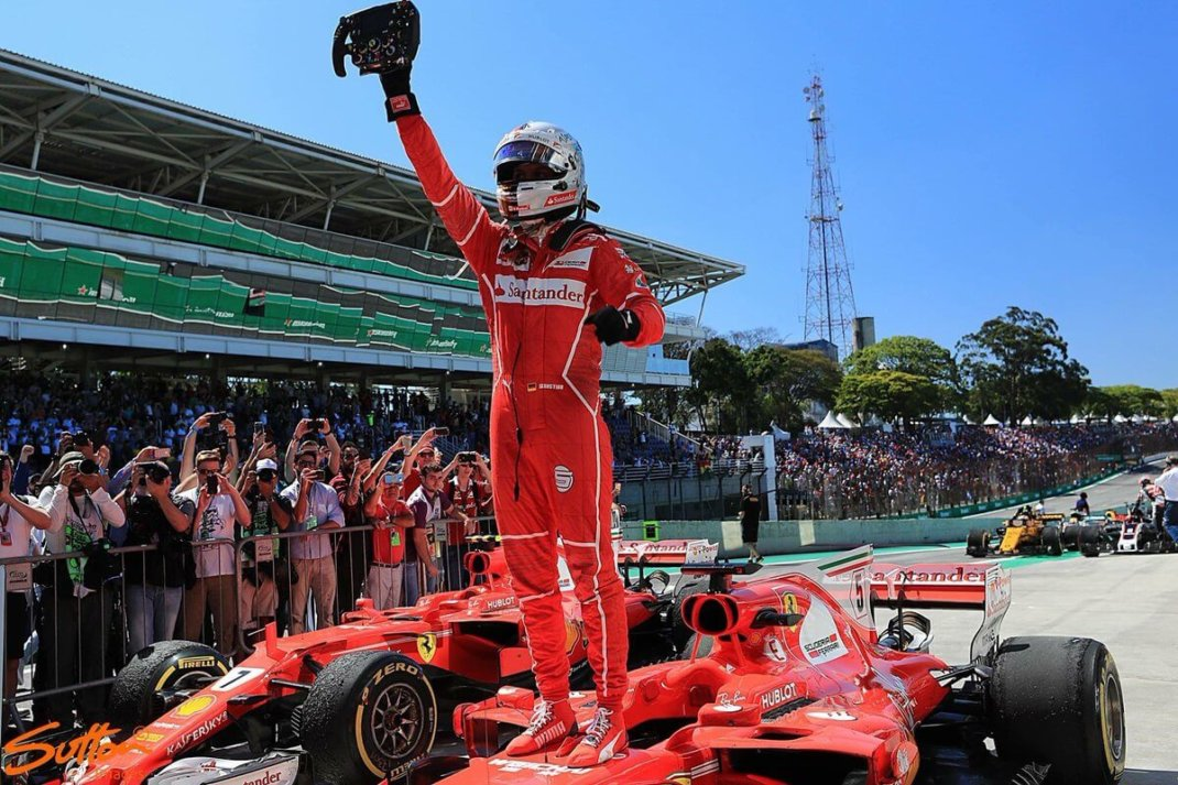 Foto de Corrida – Vettel vence no Brasil, com Hamilton realizando prova histórica
