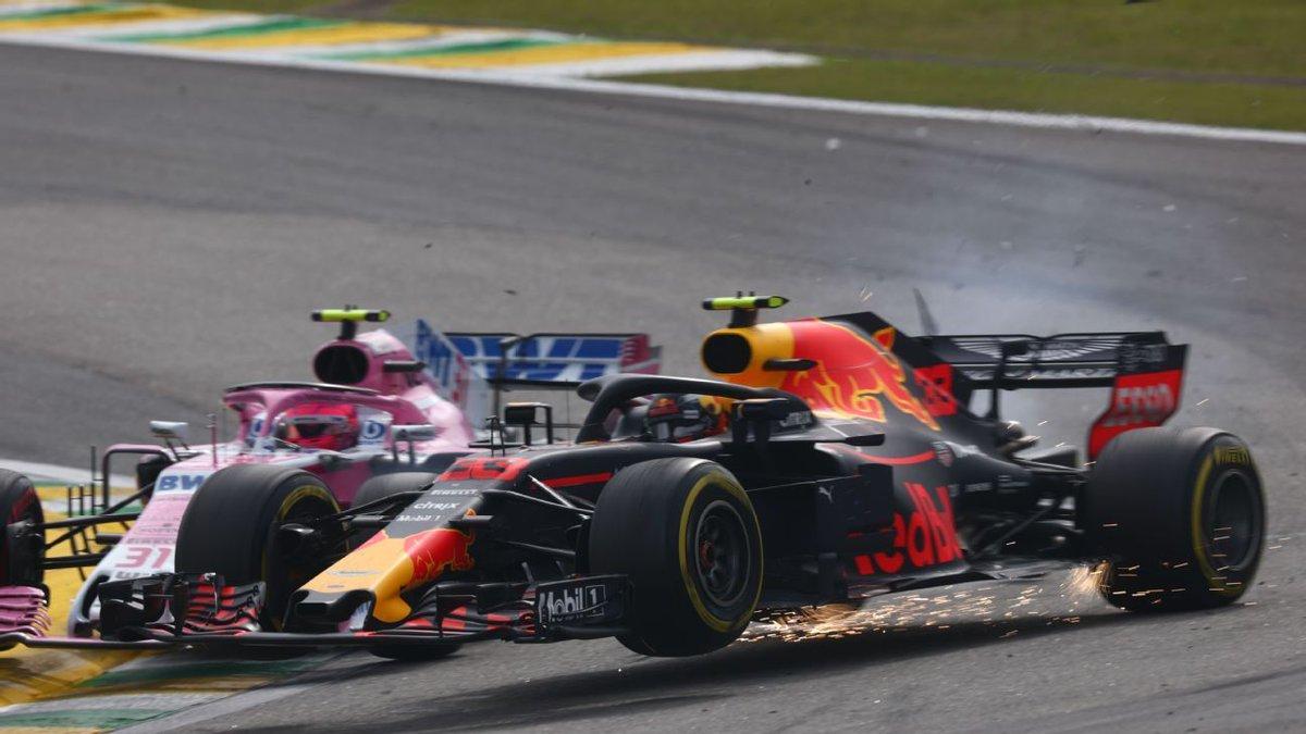 Foto de Max Verstappen se envolve em incidente com Ocon, pós-corrida e acaba punido