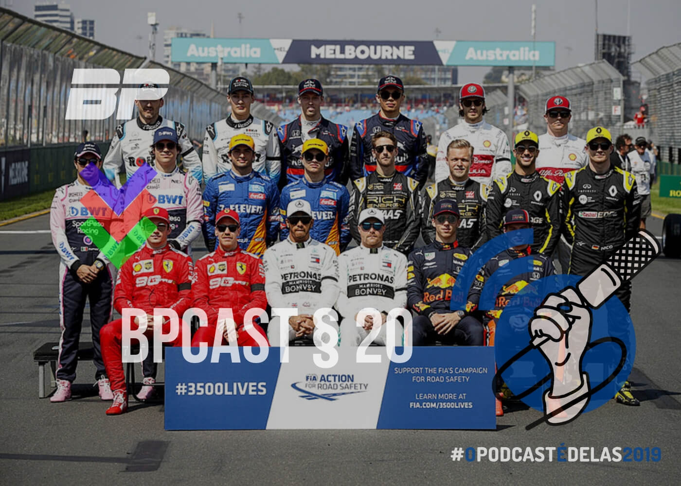 Foto de BPCast § 20 | Review do GP da Austrália de 2019 – #OPODCASTÉDELAS2019