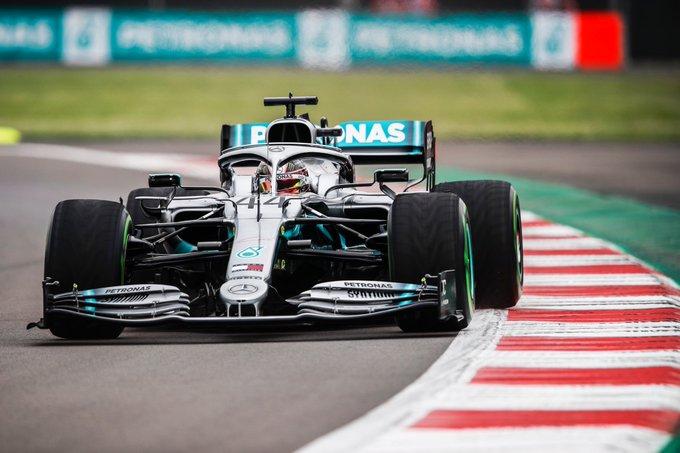 Foto de TL1 do México – Em disputa de pneus, Lewis Hamilton fechou em primeiro, seguido por Charles Leclerc, separado por 0s119