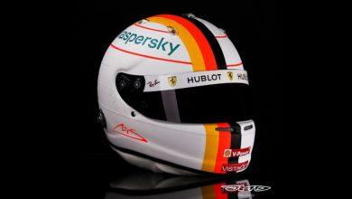 Foto de Vettel homenageia Schumacher com novo capacete para o GP de Eifel