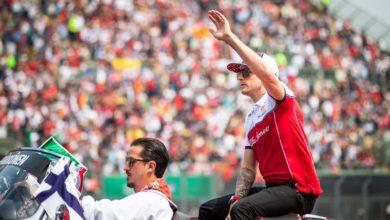 Foto de Kimi Raikkonen um dos mestres na Fórmula 1