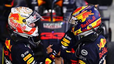 Foto de Volta por Volta – Vitória de Lewis Hamilton, com Max Verstappen e Alex Albon no pódio do Bahrein