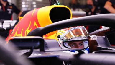 Foto de Max Verstappen lidera TL1 em Abu Dhabi, com Hamilton marcando o seu retorno na Mercedes