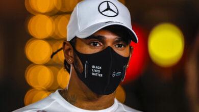 Foto de Lewis Hamilton testa positivo para o Covid-19 e não participará do GP de Sakhir