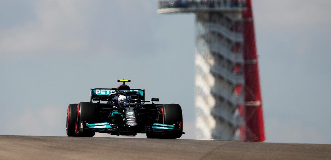 Foto de Bottas, Russell e Vettel passam pela troca de elementos do motor para o GP dos EUA
